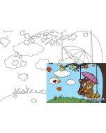 Carton panzat cu desen 20 x 30  cm - Cartoons 25