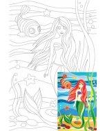 Carton panzat cu desen 20 x 30  cm - Little Mermaid
