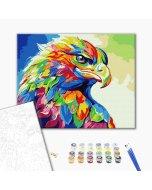 Pictura pe numere - Rainbow Eagle