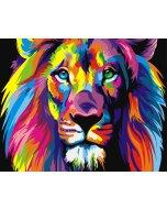 Pictura pe numere - Rainbow Lion