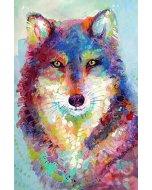 Pictura pe numere - vulpe colorata