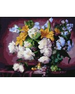 Pictura pe numere Luxurious floral