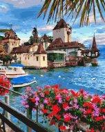 Pictura pe numere Town in Switzerland