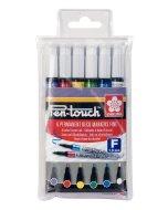 Set markere cu vopsea Pen Touch 6
