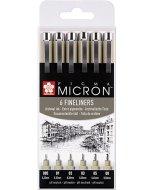 Liner Sakura Pigma Micron - set 6 linere