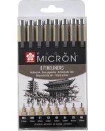 Set 8 linere Sakura Pigma Micron