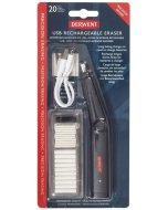Set radiera electrica Derwent cu USB