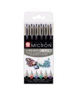 Set Pigma Micron Basic Colors Wallet 6