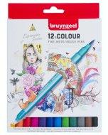Set carioci Creatives Fineliner Brush pen 12