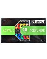 Set 48 culori acrilice campus 21 ml.