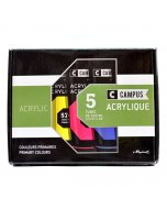 Set 5 culori acrilice campus 100 ml.
