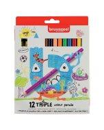 Set creioane colorate Triple 12