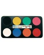 Set 8 culori pictura pe fata Jumbo Pallette