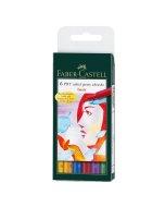 Set linere Faber Castell Pitt Artist B 6 - Basic