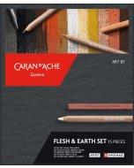 Set de desen Caran d'Ache Flesh & Earth 15