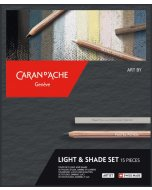 Set de desen Caran d'Ache Light & Shading