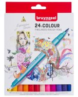 Set carioci Creatives Fineliner Brush pen 24