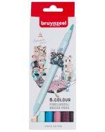 Set carioci Fineliner Brush pen Venice 6