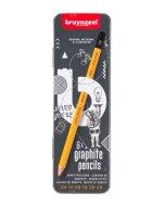Set 6 creioane Burotek in cutie metalica