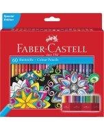 Set 60 creioane colorate Faber Castell Editie Speciala