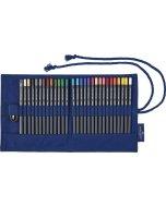 Set creioane colorate RollUp Goldfaber 27 + accesorii
