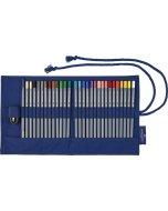 Set creioane colorate RollUp Aquarelle Goldfaber 27 + accesorii