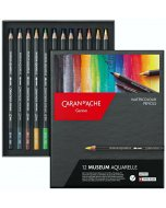 Set creioane colorate Caran d'Ache Museum 12