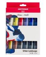 Set 12 culori acrilice Amsterdam 20 ml - Urban Landscape