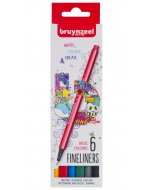 Set Bruynzeel Fineliner Basic 6
