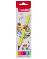 Set Bruynzeel Fineliner Neon 6