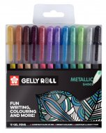 Set pixuri colorate Gelly Metallic Set 12