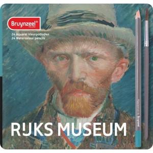Set 24 creioane colorate acuarelabile Ruks Museum