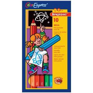 Set 10 creioane colorate Bruynzeel Color Express Mega Color