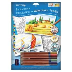 Set Desen pe Numere Reeves cu Creioane Acuarelabile