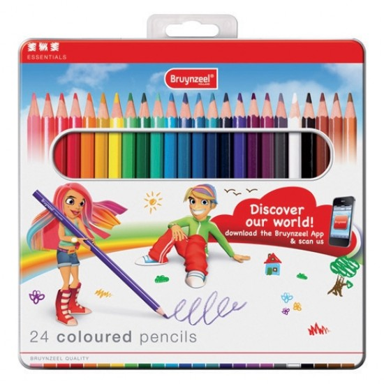 Set 12 creioane colorate Bruynzeel Coloured Pencils