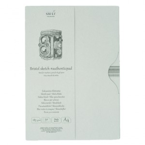Bloc Sketch pads Authentic Bristol in Folder 50x185gr A4