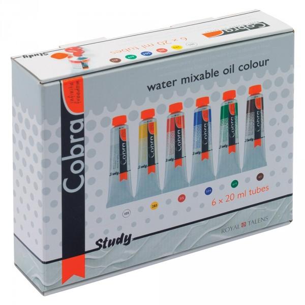 Set culori ulei Cobra Study 6 x 20 ml.