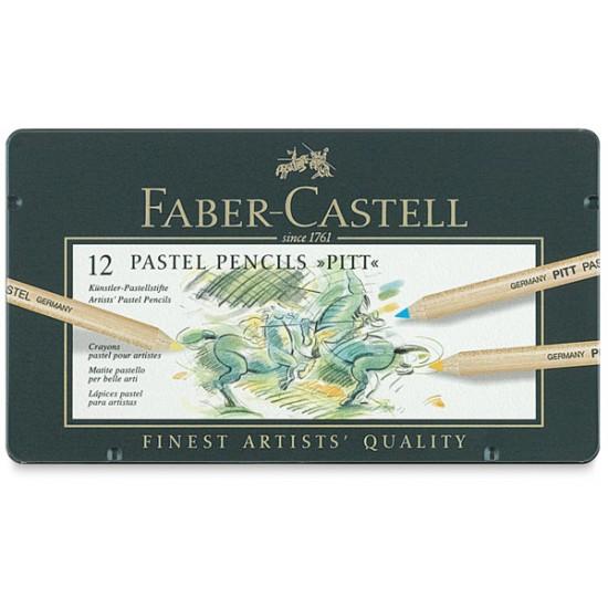 Set 12 creioane colorate Pitt Pastel
