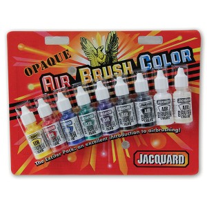 Set culori aerograf Jacquard Airbrush Exciter Opaque