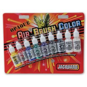 Set culori aerograf Jacquard Airbrush Exciter Opaque