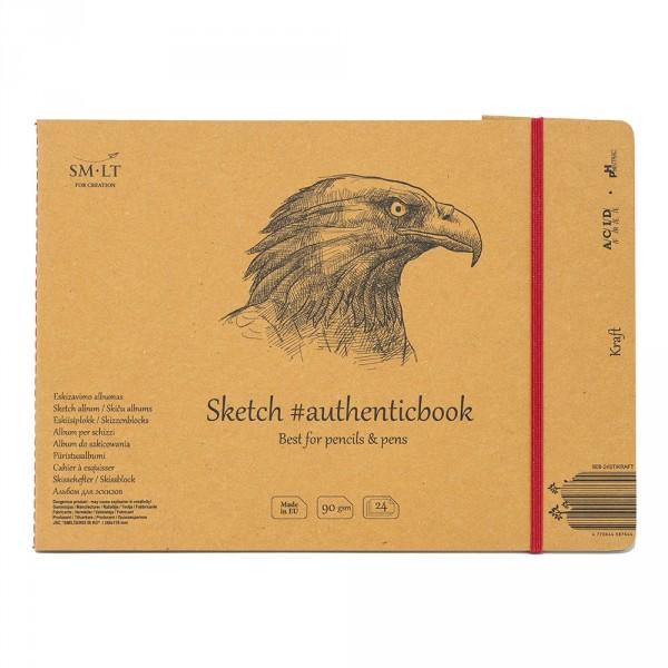 Caiet de desen #authenticbook Kraft 24x90gr