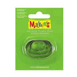Set 3 forme modelaj Makin's oval