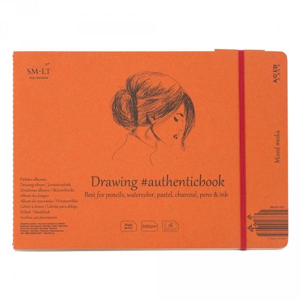 Caiet de desen #authenticbook Brown 28x135gr