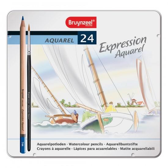 Seturi creioane colorate Bruynzeel Expression Watercolour 24