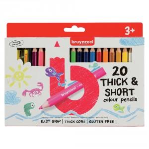 Set creioane colorate Bruynzeel Short & Thick 20