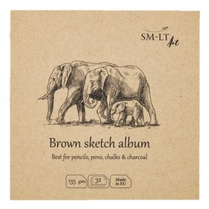 Bloc desen Brown Sketch Album 14 x 14 cm