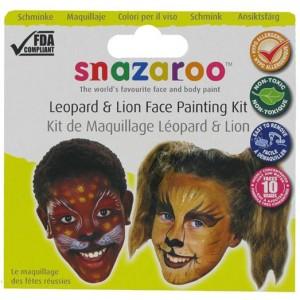 Set pictura pe fata Leopard & Lion
