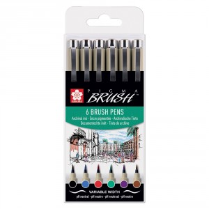 Set Pigma Brush Wallet 6