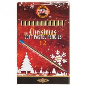 Set 12 creioane pastel Gioconda Christmas