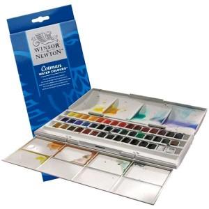 Set acuarele Winsor & Newton Cotman Studio 45 culori
